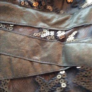 Tadashi Shoji Dresses - Tadashi Shoji gold sequin woman's dress size 12
